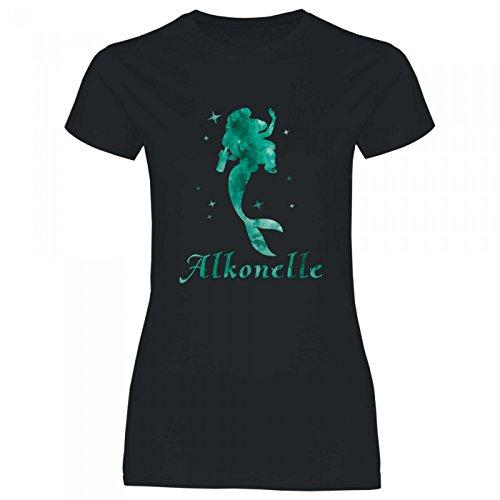 Kostüm Kreativ Disney - Royal Shirt a75 Damen T-Shirt Alkonelle | Sprücheshirt Funshirt Girlyshirt JGA, Größe:XL, Farbe:Black