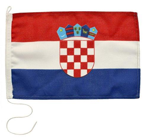 Navyline Gastlandflagge Kroatien in Zwei Größen, Größe:20 x 30 cm