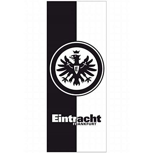Eintracht Frankfurt Badetuch schwarz/weiß 70x180 cm