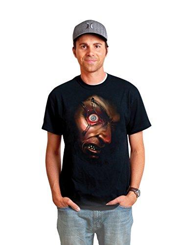 Digital Dudz DDTMENX - neuen Stil Bewegliches T-Shirt Halloween Hektisches Auge Größe (Kostüme Dudz Digital)