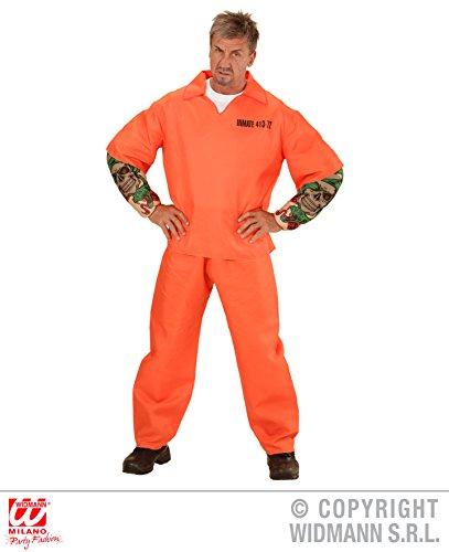 KOSTÜM - GEFANGENER - tätowiert, Größe M, Knastbruder Knast Gefängnis Sträfling (Kostüme Gefangener Halloween Männer)