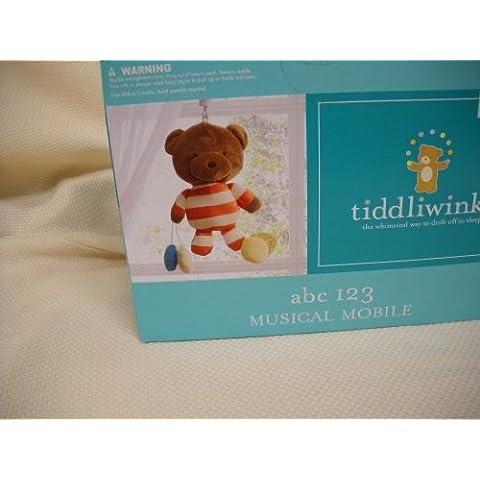 Tiddliwinks Abc 123 Collection Musical Crib Mobile Teddy Bears Boys or Girls Nursery Decor by tiddliwinks