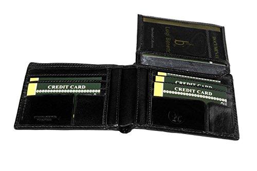 Portafoglio uomo LUIGI BENETTON nero in pelle porta carte di credito A4433