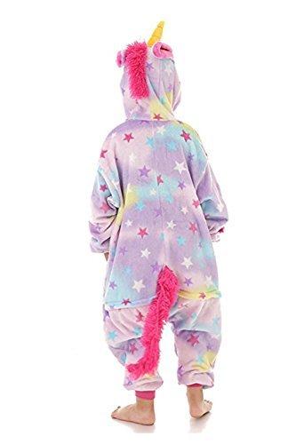 KiKa Monkey Kinder Einhorn-Karikatur-Flanell-Tierneuheit-Kostüme Cosplay Pyjamas (Größe 125: 135-144cm, Star)