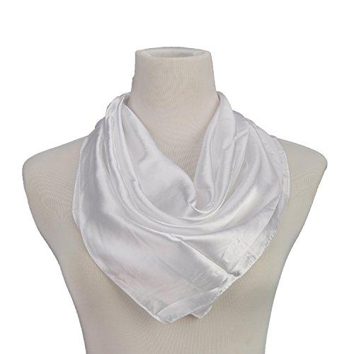 sciarpa in bianco e nero bandana strisce di stoffa elegante Faux delle signore scialle di seta RETTANGOLO