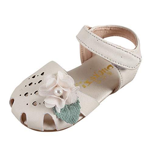 Fenverk Babyschuhe MäDchen Schuhe Prinzessin Schnee KöNigin Gelee Partei Sandalen Kleinkind Blumen Weichen Sohlen Baby Schuhekleinkind(Beige 4,24 EU) - Designer Spangen