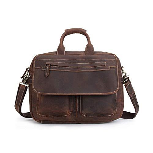 Yuany 15 'Laptop-Tasche für Aktentasche Wasserabweisende erweiterbare Computer-Tasche Business Messenger Bag Umhängetasche für Schule/Reise/Frauen/Männer -