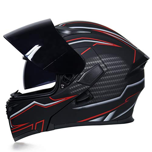 Männer Klappen Doppel Objektiv Motorradhelm Abnehmbare Und Waschbare Innenschuhe Frauen Aerodynamisches Design Modularer Helm Anti Crash Downhill Motocross Helme -
