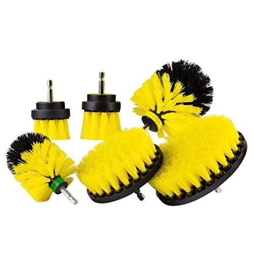Sulifor Elektrischer Bohrkopf-Satz mit 6 Reinigungsmörtel Power Cleaner Reinigungsbürste Badreiniger Kombi-Werkzeugset