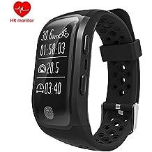 Bluetooth Smartwatch con GPS MOREFINE Smartband Impermeable Fitness Actividad Tracker Brazalete para iPhone Xiaomi Huawei con Monitor de Frecuencia Cardíaca Dormir Podómetro Regalo