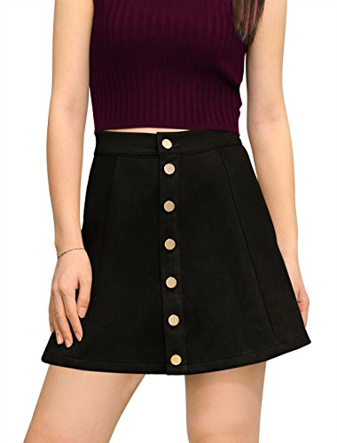 allegra-k-femme-bonded-cuir-suede-fermeture-bouton-front-taille-moyenne-jupe-trapeze-femmes-noir-m-u