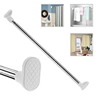 HAIPAI Shower Curtain Rods Towel Wardrobe Extendable Telescopic Stainless Steel Improved Version Poles Rails Racks bars Anti Rust