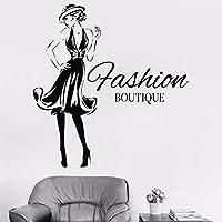 XCGZ Pegatinas de pared Diseño De Mujer Etiqueta Niñas Ropa De Moda Boutique Tienda De La