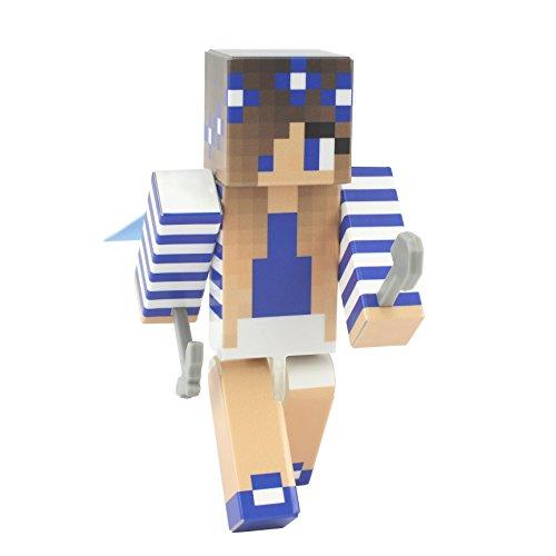 EnderToys Blue Flower Girl Action Figure Toy, 10cm Custom Series Figurines, …