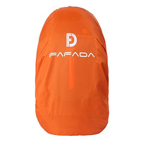 Fafada Wasserdicht Regenschutz Regencover Nylon Regenhülle Raincover Grün Schwarz Orange für Rucksack Backpack in 15-55L (Orange (M 25-38L))