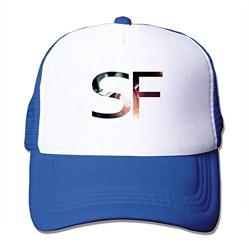 Summer Flexfit Trucker Mesh Cap, Letter SF Adjustable Hats Sports Baseball Caps