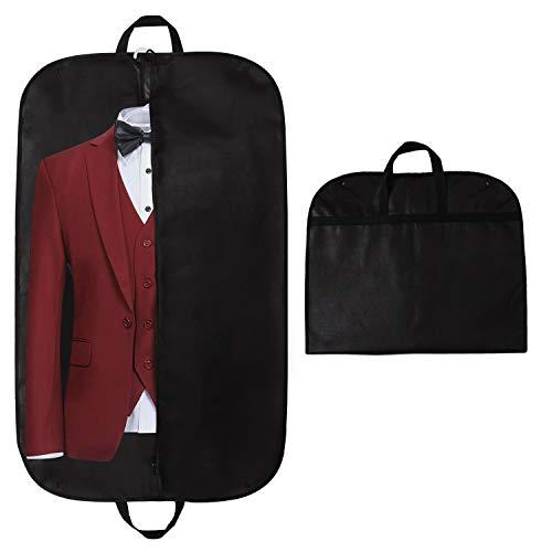 Carrier Schwarz Kleidersäcke (STEVOY Premium Kleidersack, Hochwertige Kleiderhülle für Anzug und Kleid, Atmungsaktive Anzugtasche für Reisen, 100 x 60 cm)