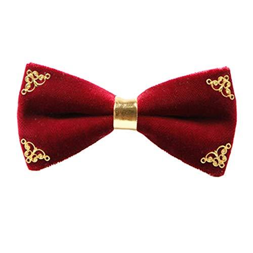 Ju-sheng Krawatte Herren Krawatte klassische Smoking handgefertigte Metall Hochzeit Fliege einstellbar