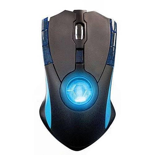 Blaze Tomahawk LED Laser Gaming Maus, kabelgebunden, schwarz/blau