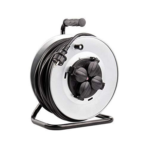 Carrete Alargador de Cable 50m IP44 Gris efectoLED