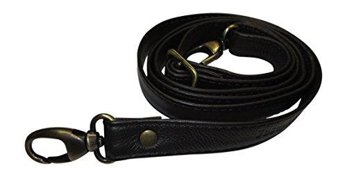 Josephine Osthoff Handtaschen-Manufaktur JOSYBAG 2 cm Leder Schulterriemen - schwarz/ALTGOLD - Trageriemen, Riemen Gurt Schultergurt Lederriemen