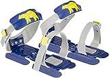 Nijdam® Junior Kinderschlitschuhe verstellbare Gleitschuhe Größe 24 - 35 Blau