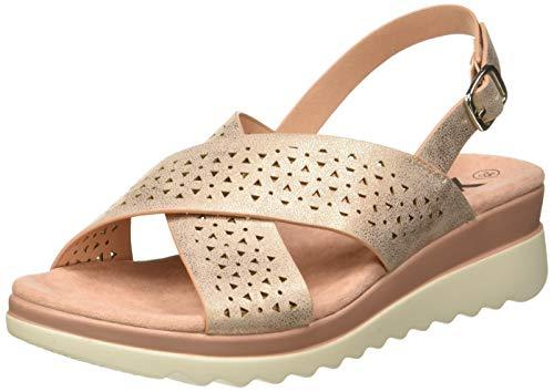 4d3df2838c XTI Girls' 56682 Open Toe Sandals Pink Nude, 1 UK