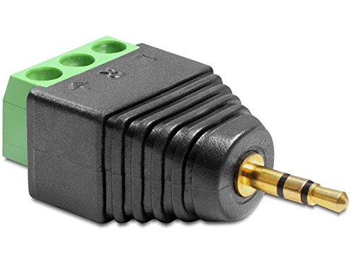 DeLock Adapter Terminalblock > Klinke 2,5mm Stecker 3 Pin - Telefon-terminal-block