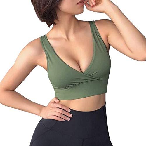 Sanahy Schlinge Oberteile Tops Frauen T-Shirt Bluse, Volltonfarbe Ärmelloses Sport für Frauen Racerback Medium High Impact Sport Fitness Yoga, Top aus Baumwolle Sporty
