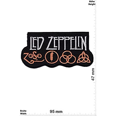 Patch - Led Zeppelin - ZoSo - Musicpatch - Rock - Vest - Chaleco - toppa - applicazione - Ricamato termo-adesivo - Give Away