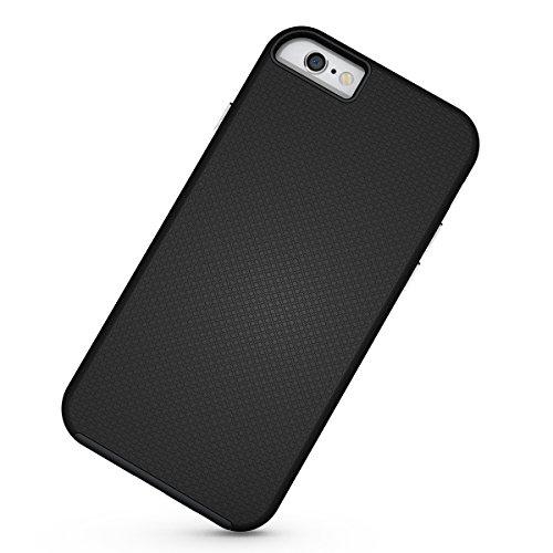 Slynmax Coque iPhone 6/6s Noir,Coque iPhone 6s, Luxe Mode Housse TPU Slim Bumper Souple Silicone Etui Housse Flexible Soft Case Cas Anti Choc Ultra Mince Légère Coque pour iPhone 6/6s