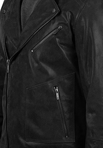 SOLID Mash Herren Lederjacke Echtleder Bikerjacke mit zahlreichen Metall-Details aus 100% Leder, Größe:L, Farbe:Black (9000) - 5