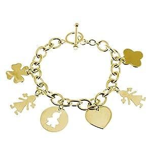 Bracelet chaîne à composer (plaqué or)