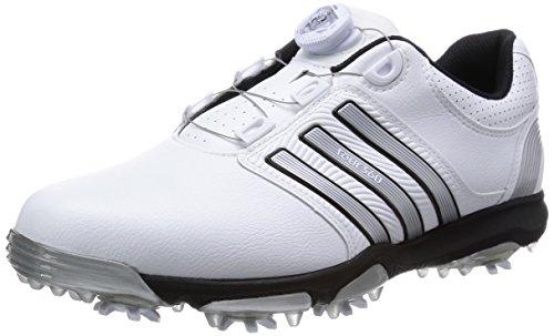 adidas  Tour360 X BOA,  Herren Golfschuhe , Mehrfarbig - Blanco / Plata / Negro - Größe: 44,5 EU