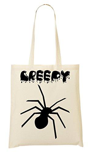 ToteWorld Creepy Splashed Black Spider Halloween'S Artwork Tragetasche Einkaufstasche (Cyrus Halloween Miley)