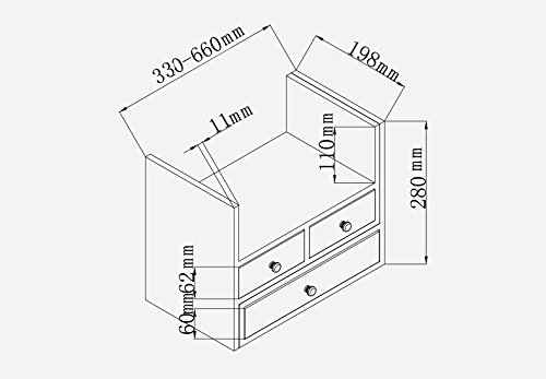 Librería Libro Stand (330-660) (L) * 198 (W) * 280 (H)