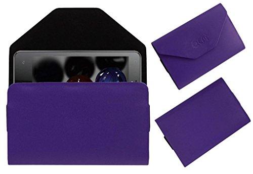 Acm Premium Pouch Case For Lava Iris 502 Flip Flap Cover Holder Purple  available at amazon for Rs.179