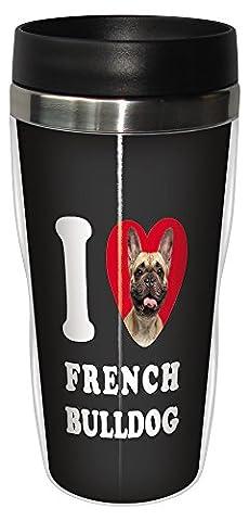 Tree Free Grußkarten, SG25053 I Heart Französische Bulldoggen Sip 'N Go Becher für unterwegs,