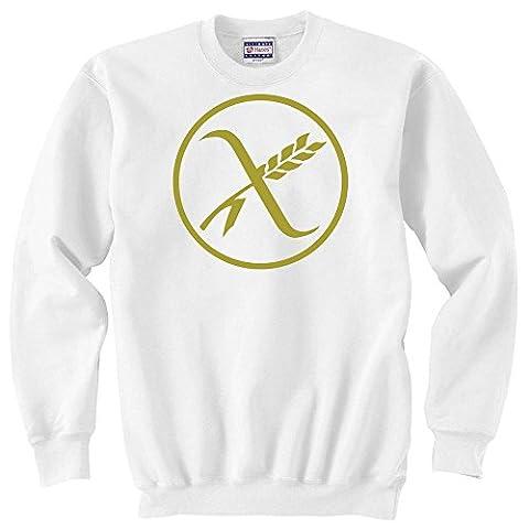 Gluten free logo graphic Unisex Sweater XX-Large