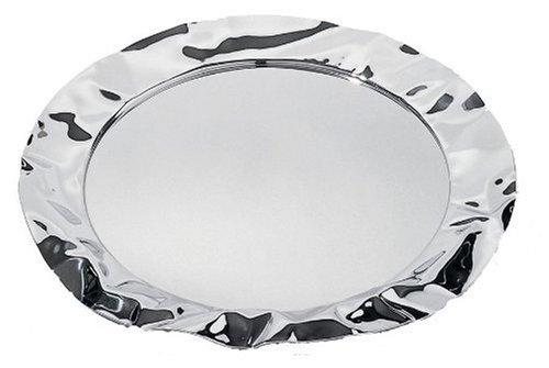 Alessi 90039 Tablett rund, Edelstahl, silber, 7 x 44,5 x 14,5 cm, Einheiten, 1.0