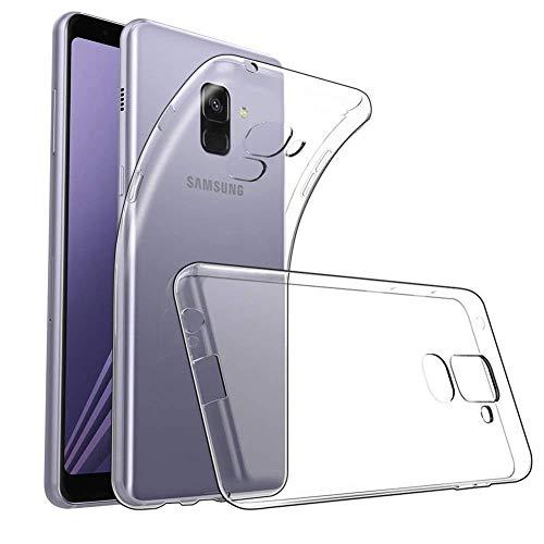 Amonke Handyhülle für Samsung Galaxy A8 2018 - Flexible Samsung Galaxy A8 2018 Hülle Silikon Transparent, Ultra Klar TPU Case Cover Durchsichtige Handytasche Schutzhülle für Samsung Galaxy A8 2018