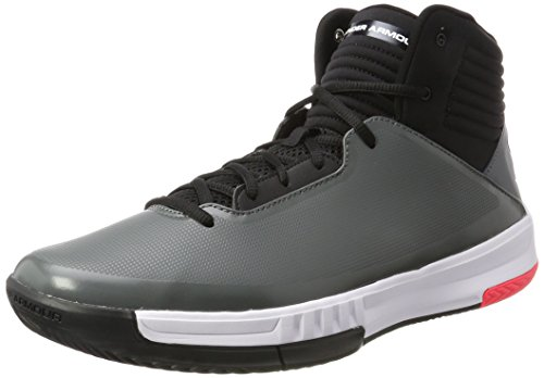 Under Armour UA Lockdown 2, Chaussures de Basketball Homme, Gris (Graphite), 43 EU