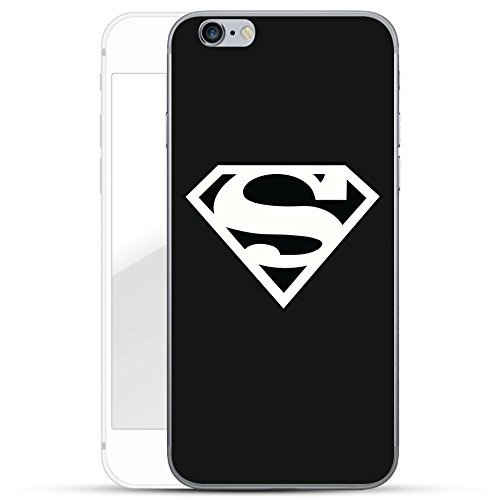 Justice League Série Coque Pour Iphone - Superman logo noir, Iphone 6/6S, Coques iphones