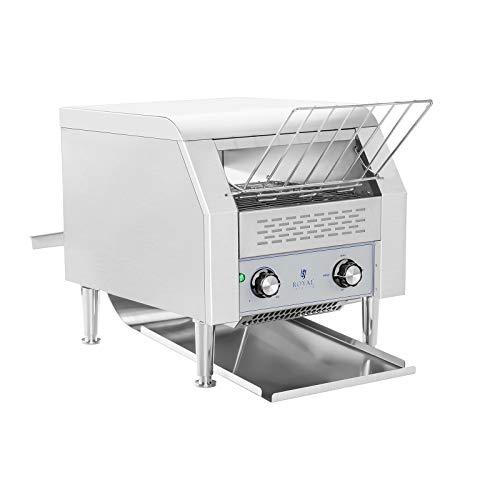 Royal Catering Toaster Grille-Pain Convoyeur Professionnel RCKT-1940 (7 niveaux de vitesse, 3 paramètres de cuisson, 2.200W, jusqu'à 720 tranches de pain par heure)