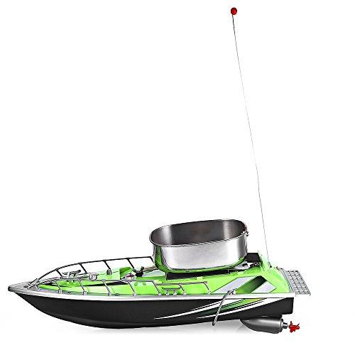 Mini Wireless 200m Fernbedienung Radio Köder Angeln Nest Köder Boot, RC Angeln Schiff für finden Fisch, grün (Fernbedienung, Fisch)