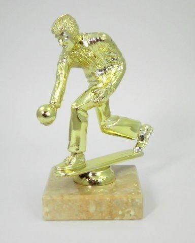 Personalisierte 15,2cm männlichen Rasen Bowler gold Ton Trophy -