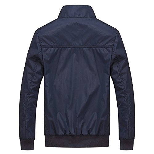 Nantersan Herrens Freizeit Draussen Sportkleidung Leichtgewichtler Bomber Jacken und Mäntel #JK025 Navy blau