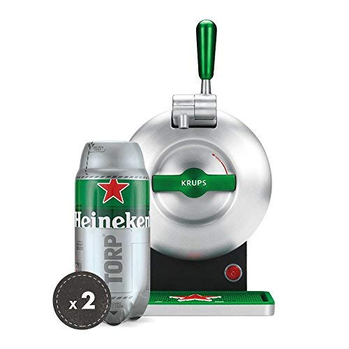 Heineken THE SUB Set Spillatura Domestica | THE SUB Spillatore Birra da Casa, Edizione Heineken | 2 x TORP Heineken Fustini di Birra da 2 Litri