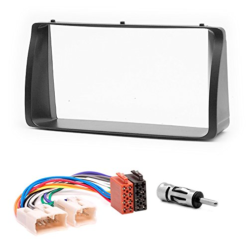 CARAV 11-038-22-6 Radioblende Car 2-DIN in Dash installation kit Set for TOYOTA Corolla 2001-2006 + ISO and antenna adapter cable (Toyota Corolla Zubehör 2002)
