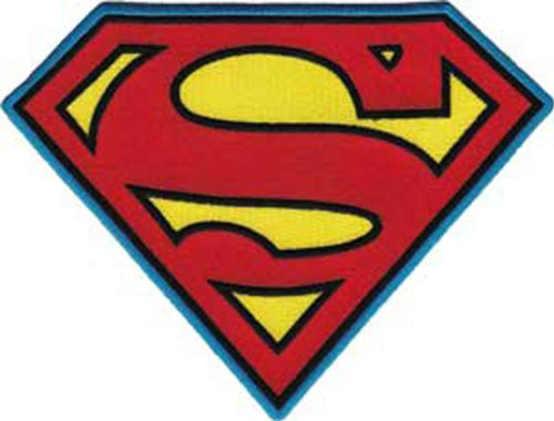 C&D Visionary Stoff DC Comics Patch-Superman Insignia (Superman Iron On Patch)